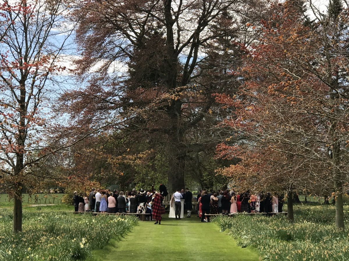 A lovely wedding in the grounds of Myres Castle
